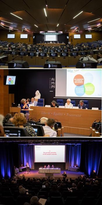 Les assemblées plénières dans l'hémicycle du Pharo à Marseille et au centre Agora à Aubagne